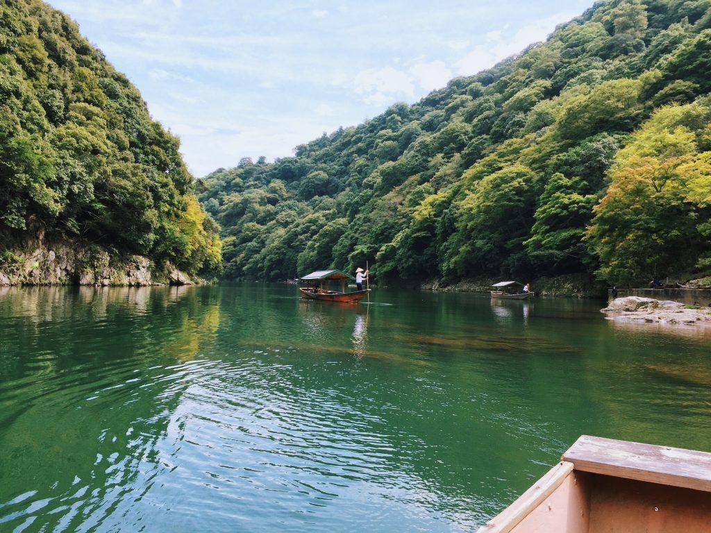 Arashiyama by boat